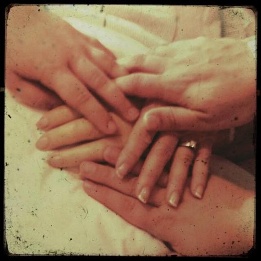 Hands with Grandma Bobbi 2.17.14